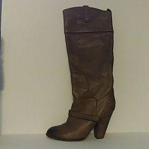 Sam Edelman Naharra Pebbled Leather Pull On Boots